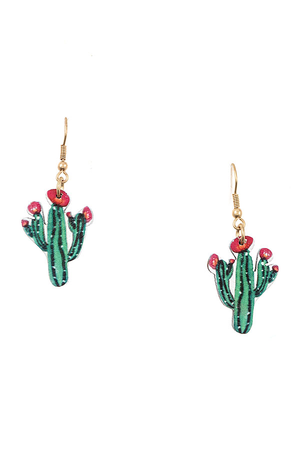 CACTUS DANGLE EARRING