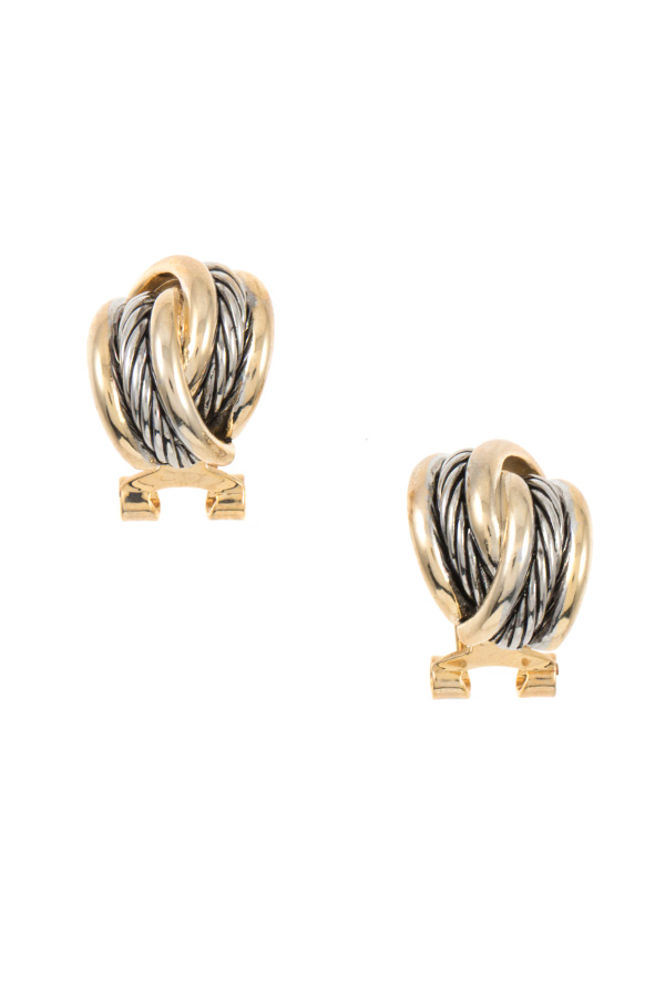 CABLE TWIST POST EARRING