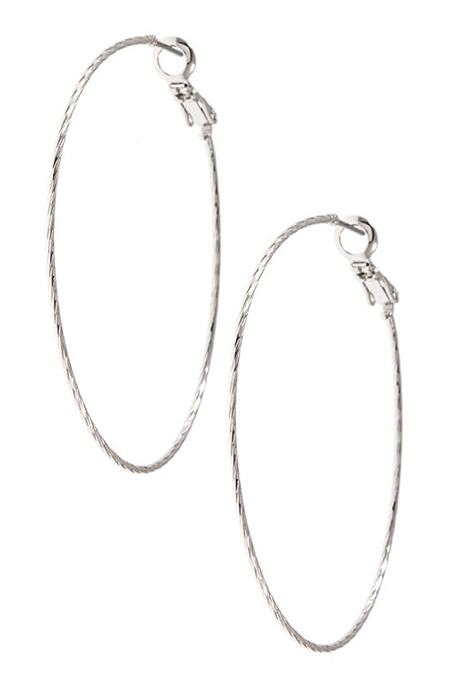 Twisted Large Hoop Earring