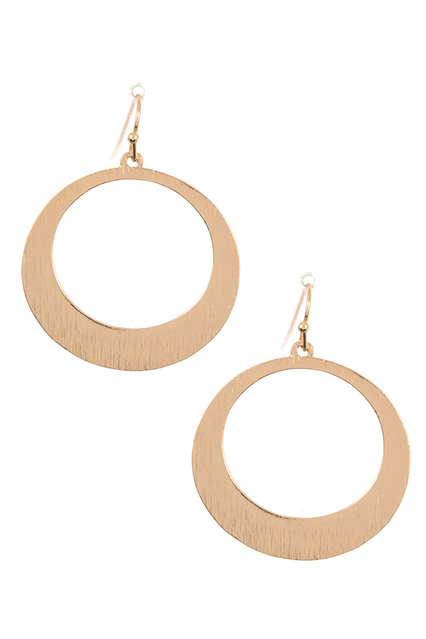 SCRATCH ROUND DROP DANGLE EARRING