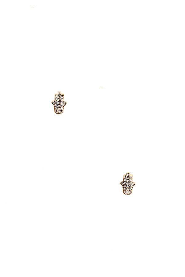 CZ STONE HAND POST EARRING