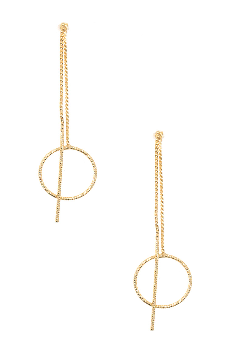 Drop Ring Chain Earring
