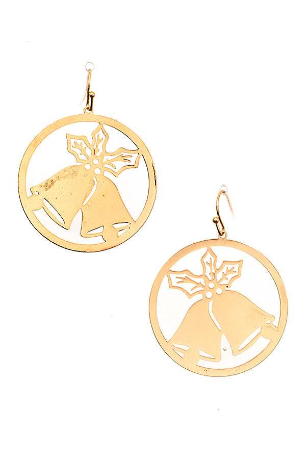 BELL CUT OUT ROUND DROP EARRING