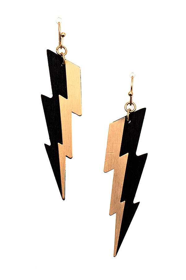 THUNDER BOLT DROP EARRING
