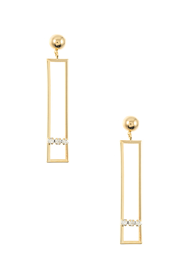 DROP RECTANGULAR CUT OUT DANGLE EARRING