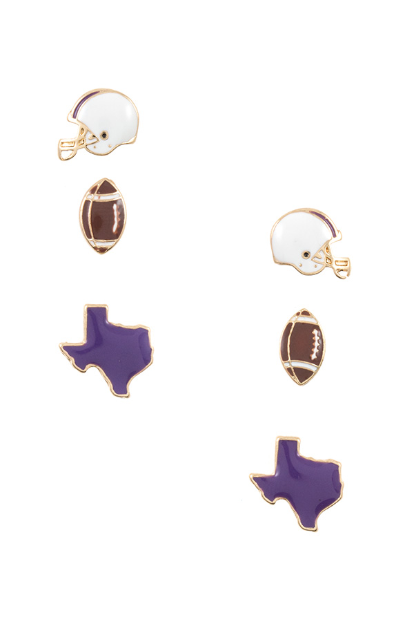TEXAS STATE GAME POST EARRING