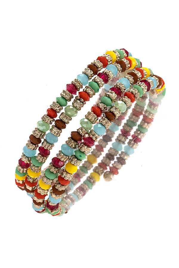 MIX BEAD WRAP BRACELET