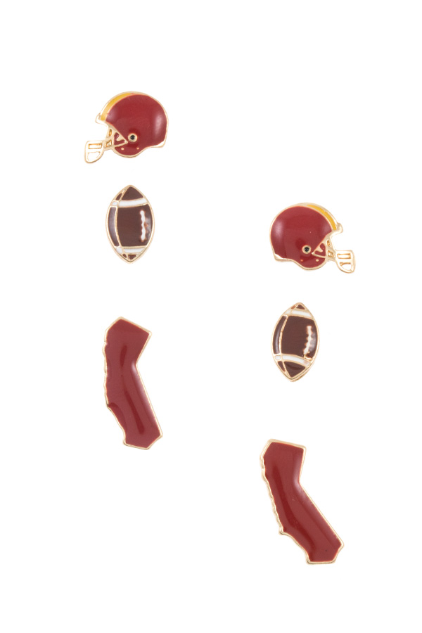 CALIFORNIA STATE GAME POST EARRING