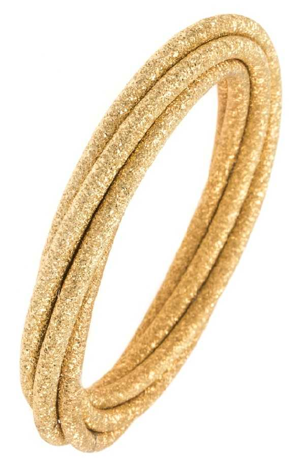 Intertwined Textured Multi Bangle Bracelet