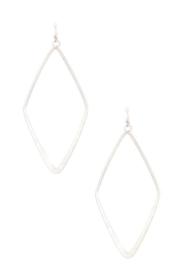 FLAT DIAMOND DANGLE EARRING