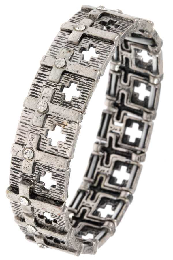 LINK CROSS CUT OUT STRETCH BRACELET