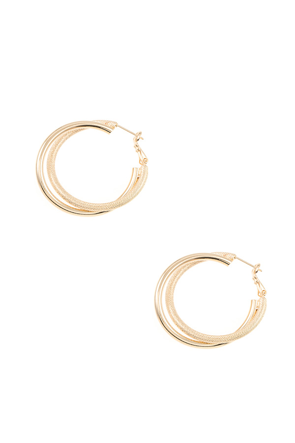 INTERTWINED TUBE HOOP EARRING
