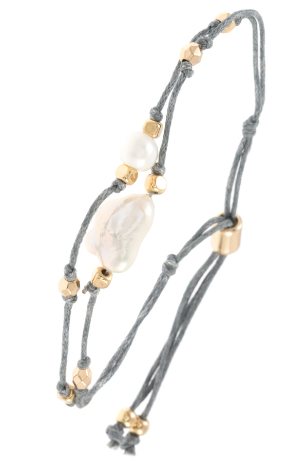 FRESHWATER PEARL ACCENT MULTI CORD BRACELET