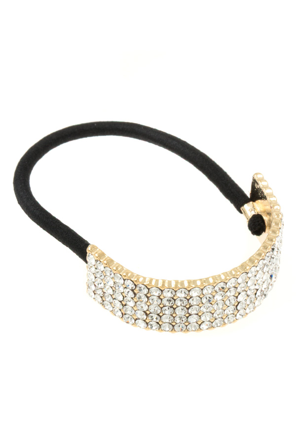 RHINESTONE STONE PAVE ACCENT HAIR TIE