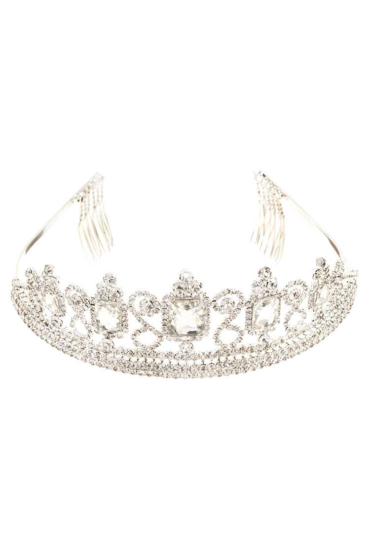 Faceted Crystal Framed Accent Tiara