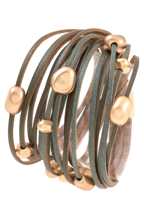 METAL STATION MULTI ROW BRACELET