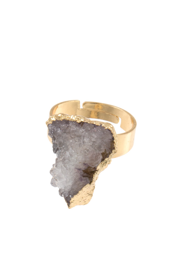 CRACKED STONE RING