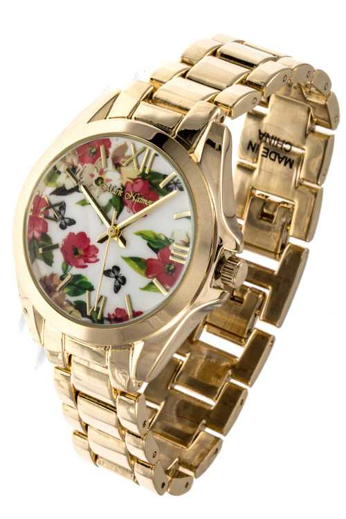 FLOWER TEMPLATE ACCENT ROMAN NUMERAL WATCH