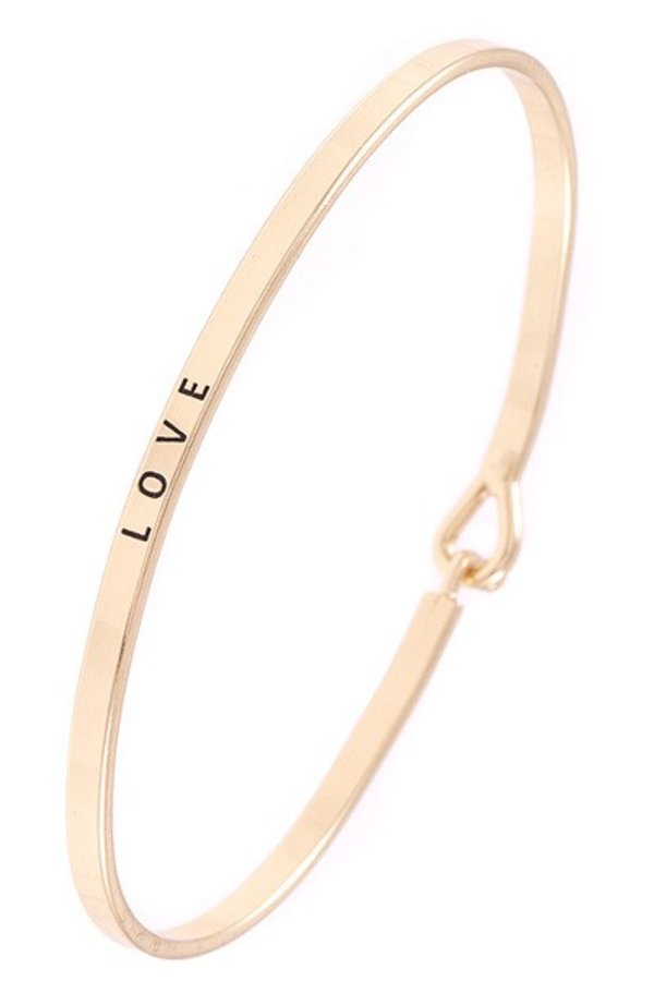 """LOVE"" Accent Bangle Bracelet"