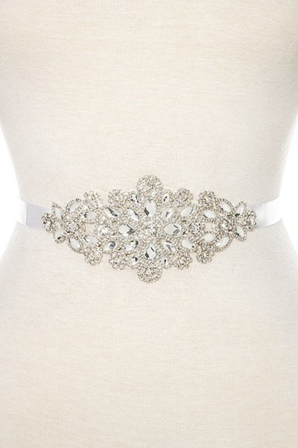 Floral Crystal Slash Belt