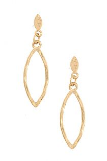 MARQUISE HAMMERED DANGLE EARRING