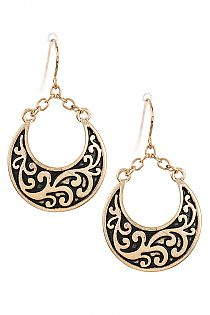 Filigree Pattern Dangle Drop Earring