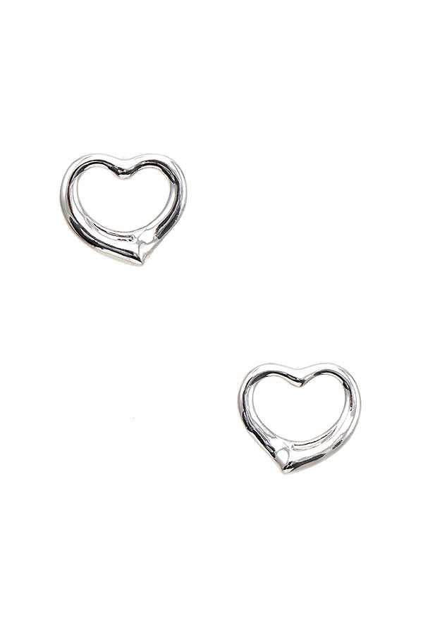 HEART ACCENT POST EARRING