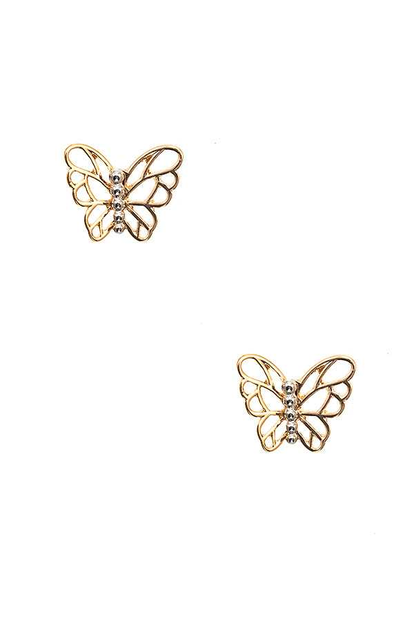 BUTTERFLY CUT OUT POST EARRING